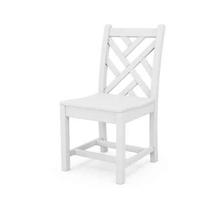 Chippendale Dining Side Chair in White