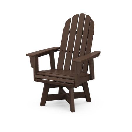 Vineyard Adirondack Swivel Dining Chair in Mahogany