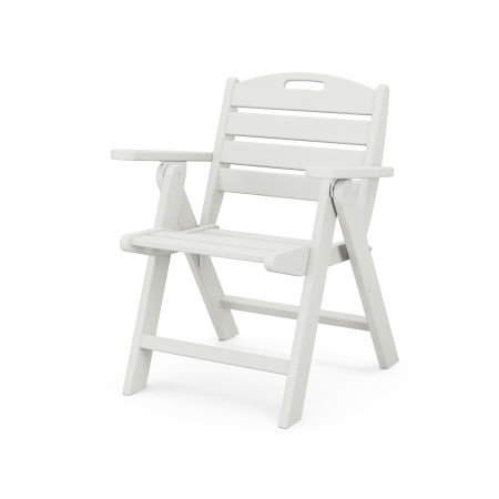 Nautical Lowback Chair in Vintage White