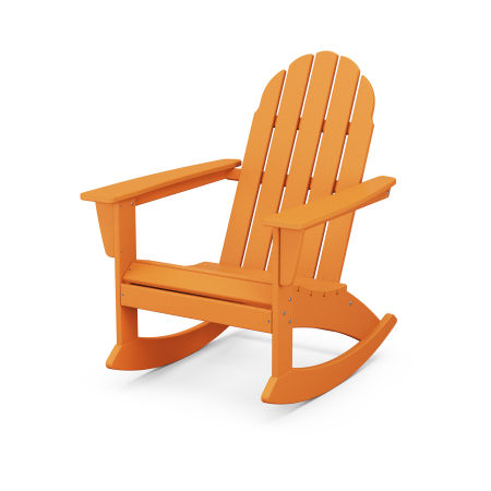 Vineyard Adirondack Rocking Chair in Tangerine