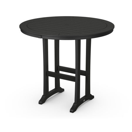 """48"""" Round Bar Table in Black"""