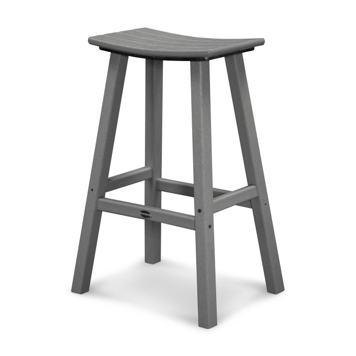 "Traditional 30"" Saddle Bar Stool"