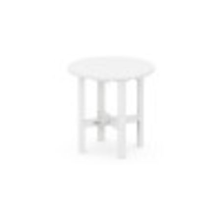 """Round 18"""" Side Table in White"""