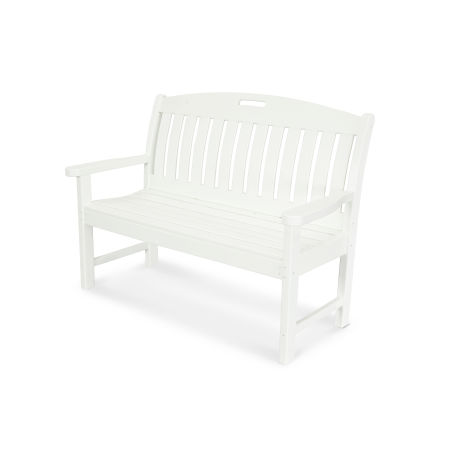 "Nautical 48"" Bench in White"
