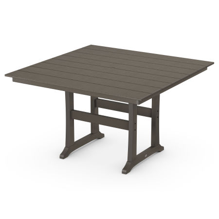 "Farmhouse Trestle 59"" Counter Table in Vintage Finish"