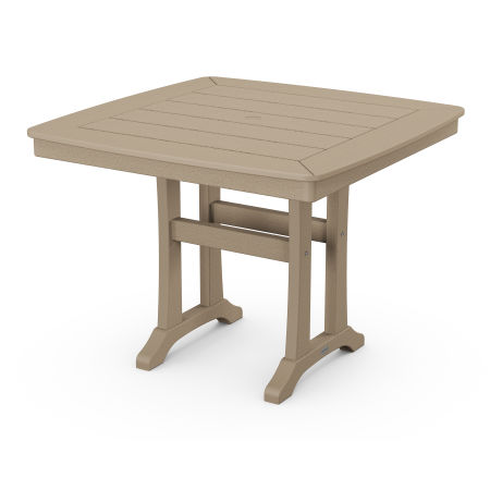 """Nautical Trestle 37"""" Dining Table in Vintage Sahara"""