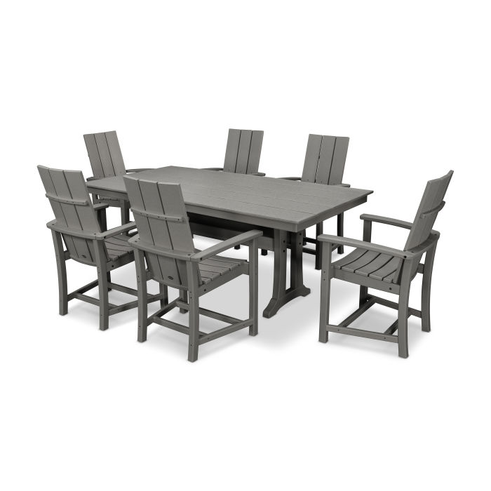 Modern Adirondack 7-Piece Farmhouse Trestle Dining Set