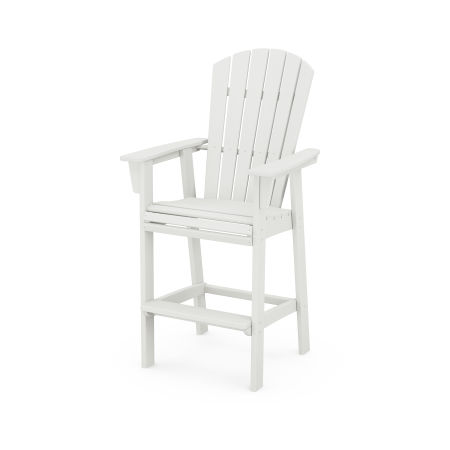 Nautical Adirondack Bar Chair in Vintage White
