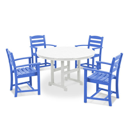 La Casa Café 5-Piece Dining Set in Pacific Blue