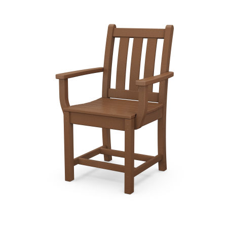 Traditional Garden Dining Arm Chair in Teak