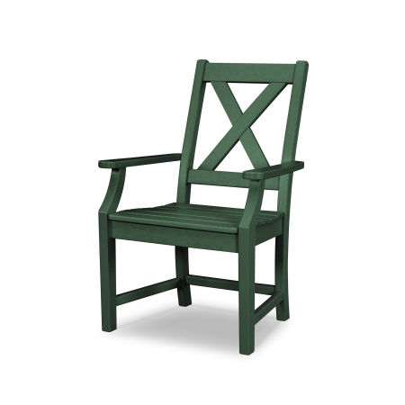Braxton Dining Arm Chair in Green