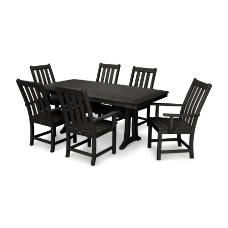 Vineyard 7-Piece Dining Set in Black