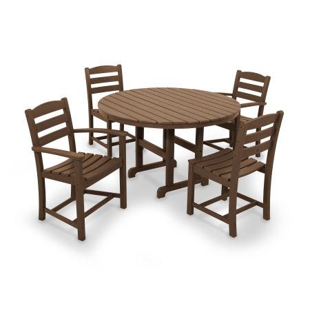 La Casa Café 5-Piece Dining Set in Teak