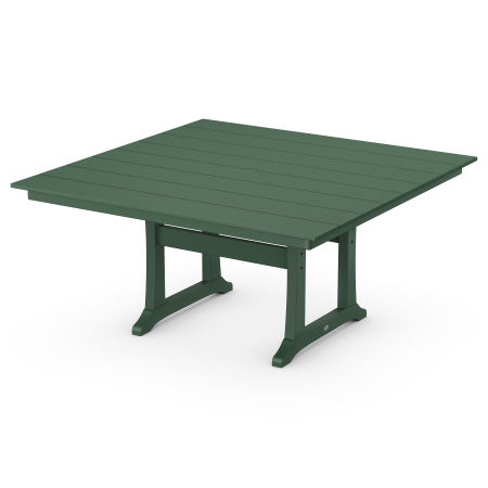 """59"""" Square Dining Table in Green"""