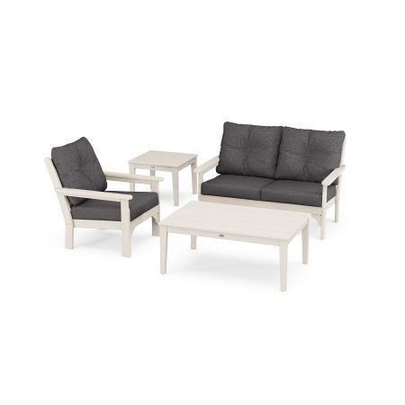Vineyard 4-Piece Deep Seating Set in Sand / Antler Charcoal