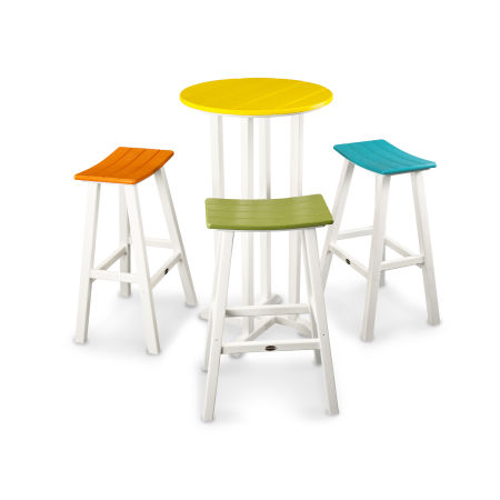 Contempo 4-Piece Saddle Bar Stool Set