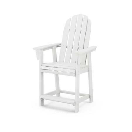 Vineyard Adirondack Counter Chair in White
