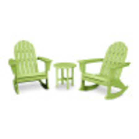 Vineyard 3-Piece Adirondack Set in Lime