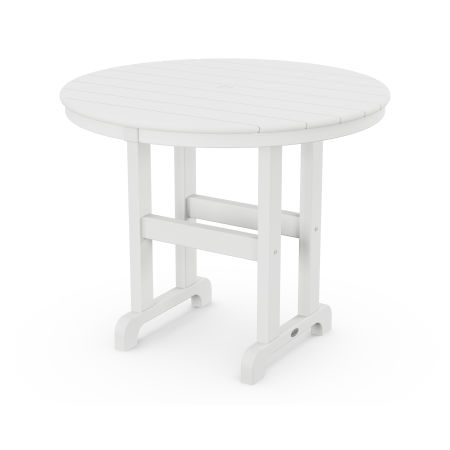 "La Casa Café Round 36"" Dining Table in White"