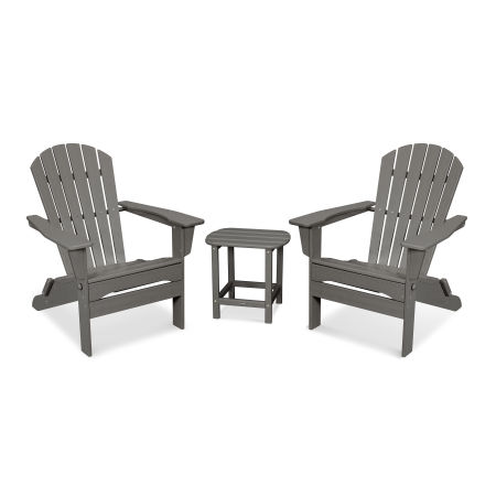 South Beach 3-Piece Folding Adirondack Set