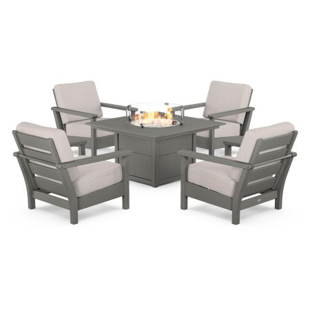 Harbour 5-Piece Conversation Set with Fire Pit Table