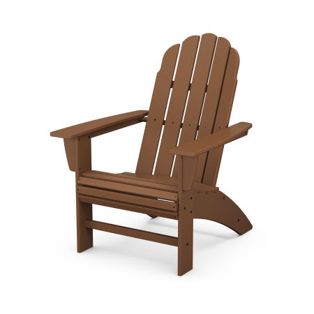 Vineyard Curveback Adirondack Chair in Teak