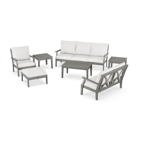Braxton 7-Piece Deep Seating Set in Slate Grey / Natural Linen