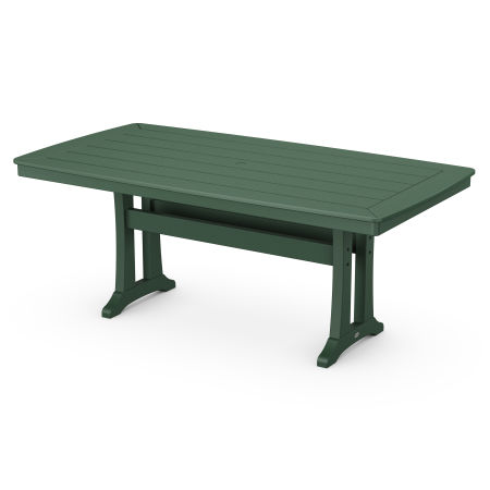 """38"""" x 73"""" Dining Table in Green"""