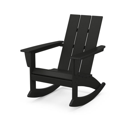 Modern Adirondack Rocking Chair in Black