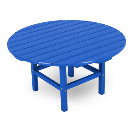 """Round 38"""" Conversation Table by Ivy Terrace in Pacific Blue"""