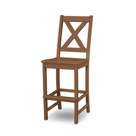 Braxton Bar Side Chair in Teak