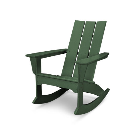 Modern Adirondack Rocker in Green