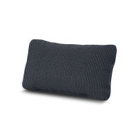 Outdoor Lumbar Pillow in Depth Indigo