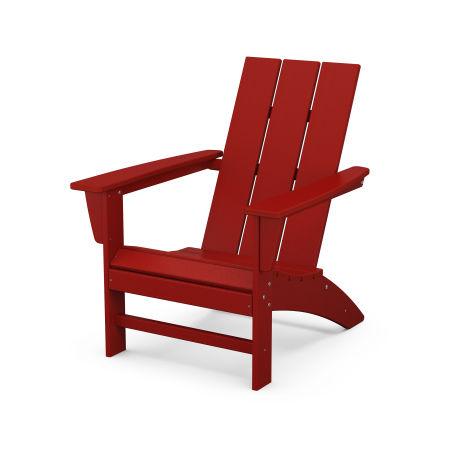 Modern Adirondack Chair in Crimson Red