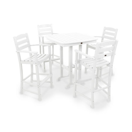 La Casa Café 5-Piece Bar Set in White