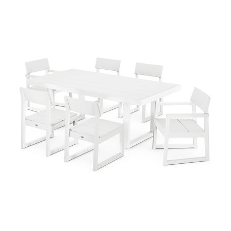 EDGE 7-Piece Dining Set in White