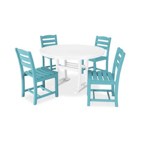 La Casa Café 5 Piece Side Chair Dining Set in Aruba