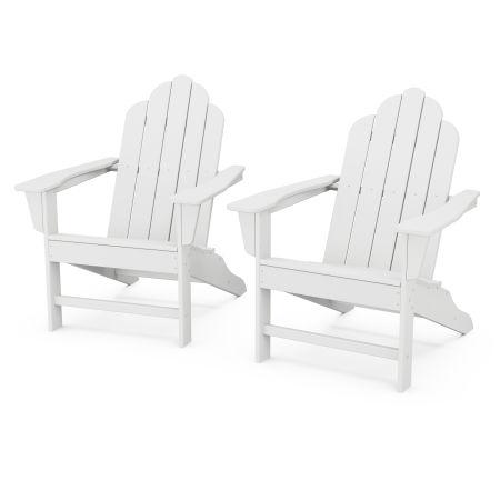 Long Island Adirondack 2-Piece Set in White