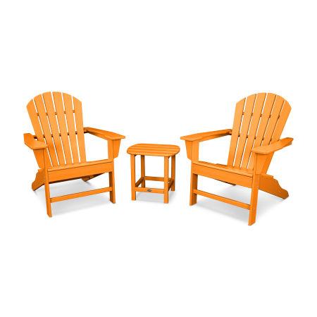 South Beach Adirondack 3-Piece Set in Tangerine