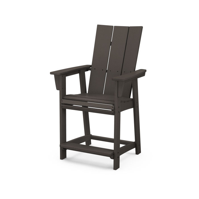 Modern Curveback Adirondack Counter Chair in Vintage Finish