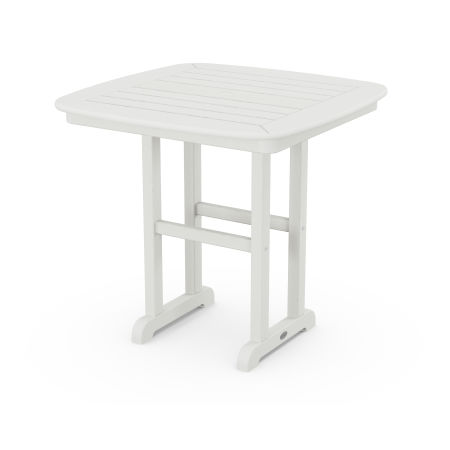 """Nautical 31"""" Dining Table in Vintage White"""
