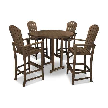 Palm Coast 5-Piece Bar Set in Teak