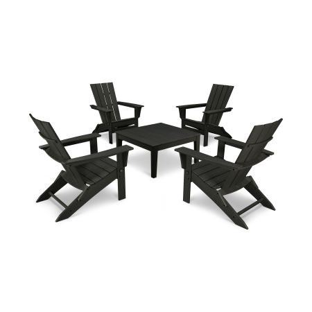 Quattro 5-Piece Conversation Set  in Black