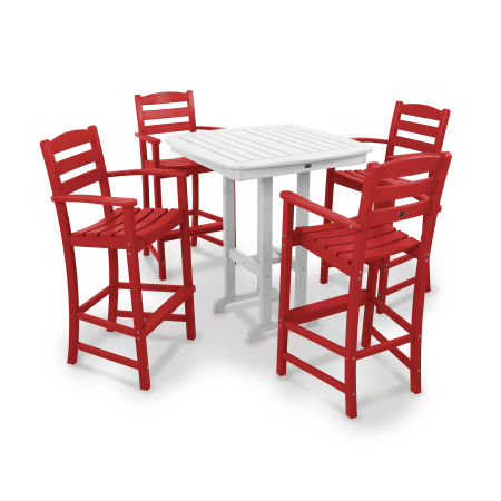 La Casa Café 5-Piece Bar Set in Sunset Red