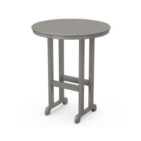 "La Casa Café Round 36"" Bar Table in Slate Grey"