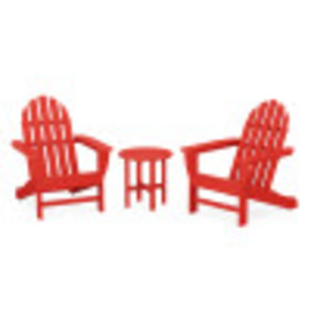 Classic Adirondack 3-Piece Set in Sunset Red