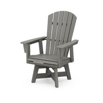 Nautical Curveback Adirondack Swivel Dining Chair