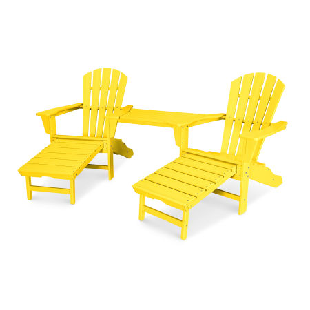 Palm Coast Adirondack Tête-à-Tête Set in Lemon