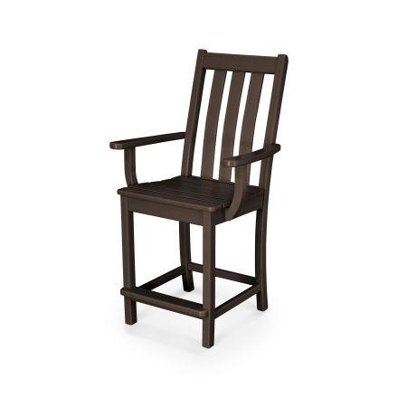 Vineyard Counter Arm Chair in Mahogany