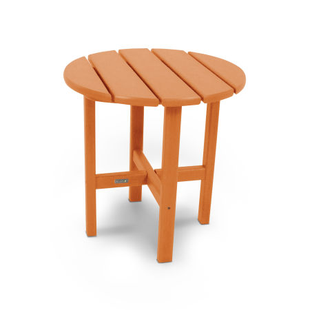 """18"""" Round Side Table by Ivy Terrace™ in Tangerine"""